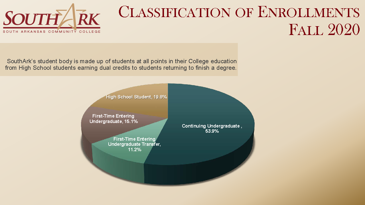 Classification of Enrollments Fall 2020